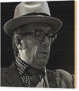 Elvis Costello Wood Print by Tony Reddington
