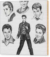 Elvis Elvis Elvis Wood Print