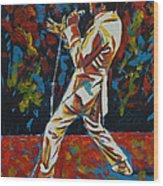 Elvis If I Can Dream Wood Print