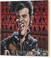 Elvis In Memphis Wood Print