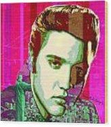 Elvis In Rio Wood Print