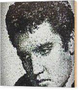 Elvis Love Me Tender Mosaic Wood Print