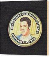 Elvis On Ed Sullivan Wood Print