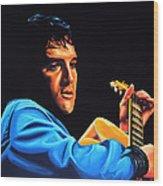 Elvis Presley 2 Painting Wood Print