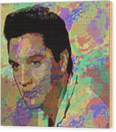 Elvis Presley - 5 Wood Print