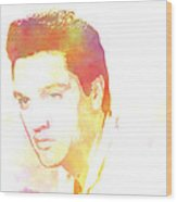 Elvis Presley - 6 Wood Print