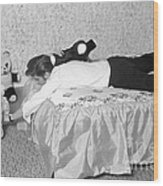 Elvis Presley At Home With His Teddy Bears 1956 Wood Print