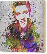 Elvis Presley In Color Wood Print