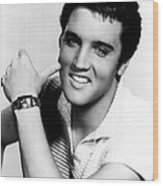 Elvis Presley Looking Casual Wood Print