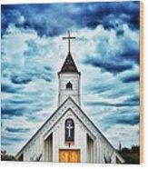 Elvis Presley Memorial Chapel 2 Wood Print