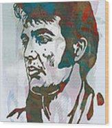 Elvis Presley - Modern etching  pop art poster Wood Print