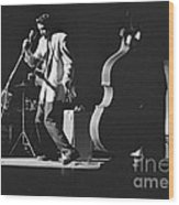Elvis Presley Performing At The Fox Theater 1956 Wood Print