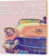 Elvis Presley Pink Cadillac Wood Print