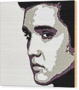Elvis Presley Portrait Art Wood Print