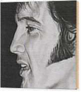 Elvis Presley  The King Wood Print