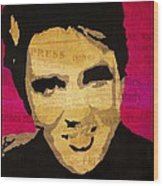 Elvis Singing The Blues Wood Print