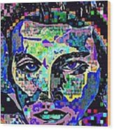 Elvis The King Abstract Wood Print