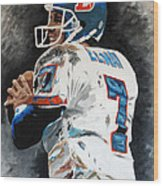 Elway Wood Print by Don Medina