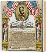 Emancipation Proclamation Tribute 1888 Wood Print by Daniel Hagerman