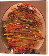Ember Swirls  Fe1 Wood Print