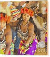 Embera Villagers In Panama Wood Print