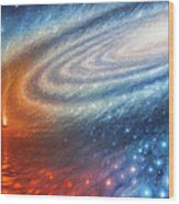 Embers Of Exploration And Enlightenment Wood Print