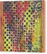 Embossed Blocks Encaustic Wood Print