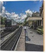 Embsay Railway Station Yorks Dales Wood Print