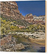 Emeral Pools Trail - Zion Wood Print