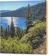 Emerald Bay Lake Tahoe California Wood Print