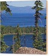Emerald Bay -lake Tahoe Wood Print