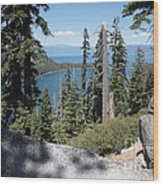 Emerald Bay Vista Wood Print