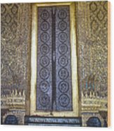 Emerald Buddha Temple Door Wood Print
