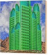 Emerald Desert Palm Springs Wood Print