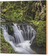 Emerald Falls Wood Print