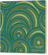 Emerald Green Abstract Wood Print