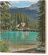 Emerald Lake Lodge Wood Print