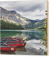 Emerald Lake Yoho National Park Wood Print