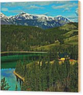 Emerald Lake - Yukon Wood Print
