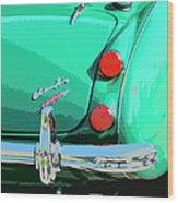 Emerald Palm Springs Wood Print