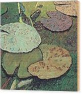 Emerald Pond Wood Print