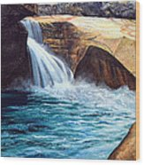 Emerald Pool Wood Print
