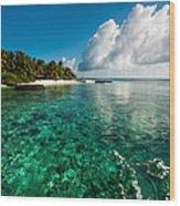 Emerald Purity. Kuramathi Resort. Maldives Wood Print