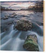 Emerald Rock Wood Print by Davorin Mance