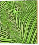 Emerald Scream Wood Print