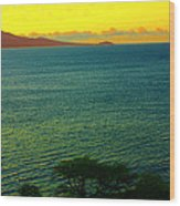 Emerald Sea Wood Print