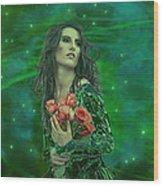 Emerald Universe Wood Print