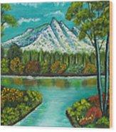 Emerald Valley Wood Print