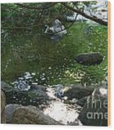 Emerald Waters Wood Print