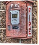 Emergency Fire Box Wood Print